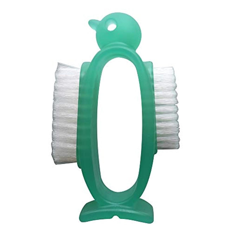 侵略ペナルティ現実アズマ 手洗いブラシ ネイルケアペンギングリーン 立てて清潔収納 AZ950g