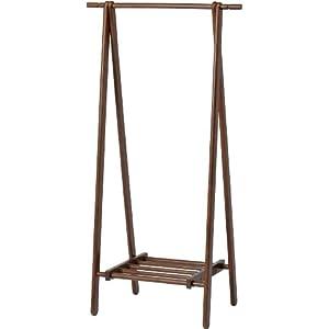 不二貿易 木製 ハンガー ブラウン 6110-6-80(KI) ハンガーラック コートハンガー 89251