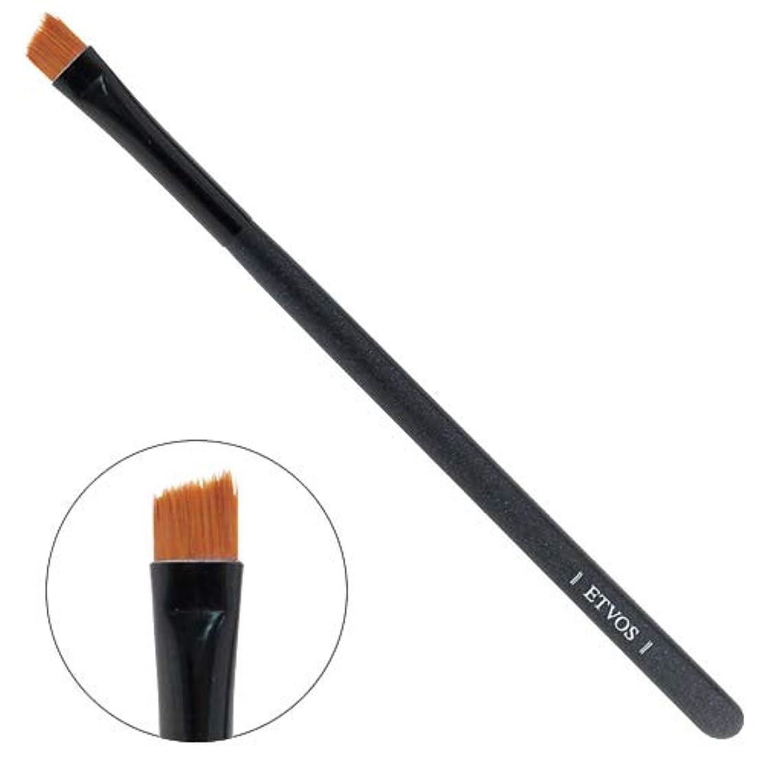 満了ピンポイント接触ETVOS(エトヴォス) アイライナーブラシ 毛先を斜めカット/目のキワまでアイラインが引ける化粧筆 12.5cm