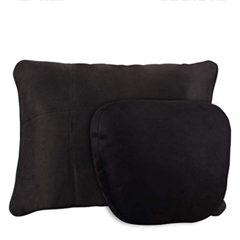 罪悪感テーブル注釈を付ける腰椎枕、腰椎枕、記憶泡の枕クッション腰椎サポート車のホームオフィスの椅子、人間工学的の整形外科の設計は坐骨神経痛および尾骨の苦痛を取り除きます (Color : 黒)