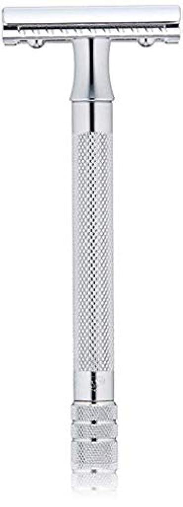 闇ボタンなかなかメルクール(MERKUR) MK-23C 両面剃刀、替刃50枚、セーフティ替刃ゴミ箱の3点セット [並行輸入品]