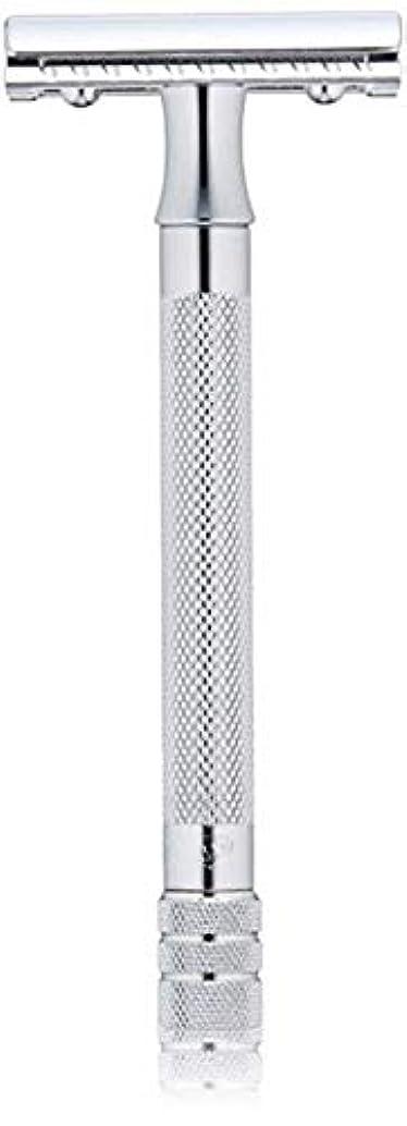 警告粒子怪物メルクール(MERKUR) MK-23C 両面剃刀、替刃50枚、セーフティ替刃ゴミ箱の3点セット [並行輸入品]