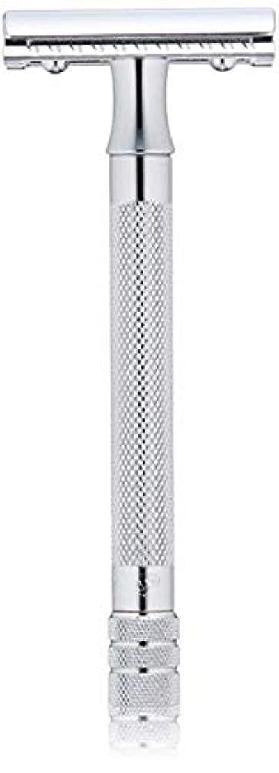 憂鬱精神医学憂鬱メルクール(MERKUR) MK-23C 両面剃刀、替刃50枚、セーフティ替刃ゴミ箱の3点セット [並行輸入品]