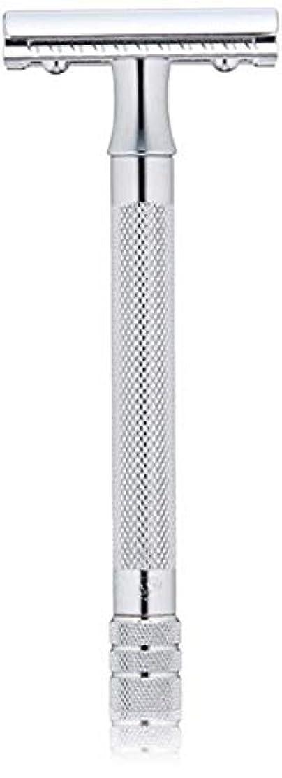 故意に操作私たちのものメルクール(MERKUR) MK-23C 両面剃刀、替刃50枚、セーフティ替刃ゴミ箱の3点セット [並行輸入品]