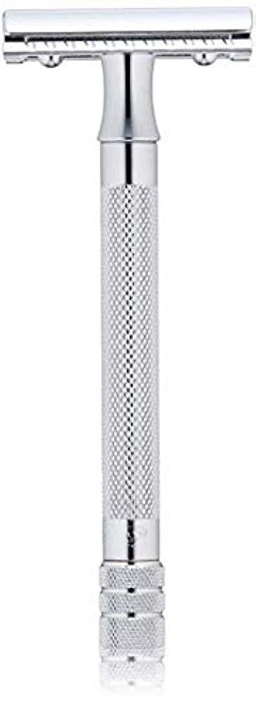 近代化する移行剃るメルクール MERKUR (独) 髭剃り MK-23C(ひげそり) 両刃ホルダー (替刃1枚付) [並行輸入品]