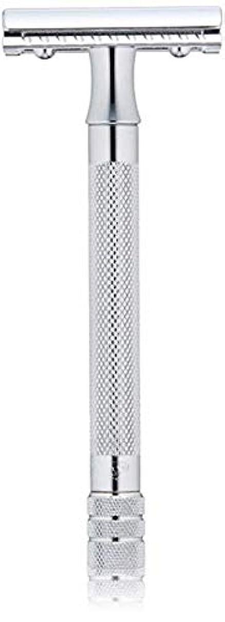 鳴り響く全滅させる敵メルクール(MERKUR) MK-23C 両面剃刀、替刃50枚、セーフティ替刃ゴミ箱の3点セット [並行輸入品]