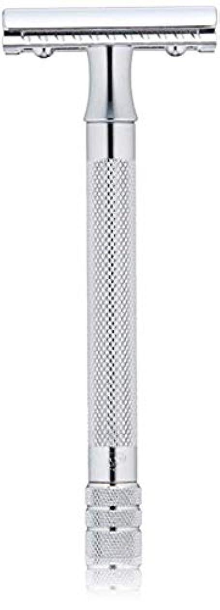 確認してください取るタイマーメルクール(MERKUR) MK-23C 両面剃刀、替刃50枚、セーフティ替刃ゴミ箱の3点セット [並行輸入品]