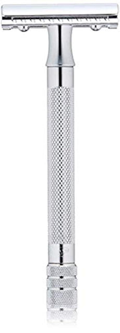 敬意を表する大胆不敵パラシュートメルクール(MERKUR) MK-23C 両面剃刀、替刃50枚、セーフティ替刃ゴミ箱の3点セット [並行輸入品]