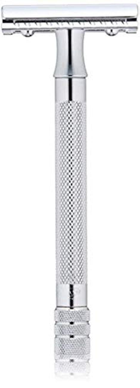 激しい付添人素晴らしいですメルクール(MERKUR) MK-23C 両面剃刀、替刃50枚、セーフティ替刃ゴミ箱の3点セット [並行輸入品]