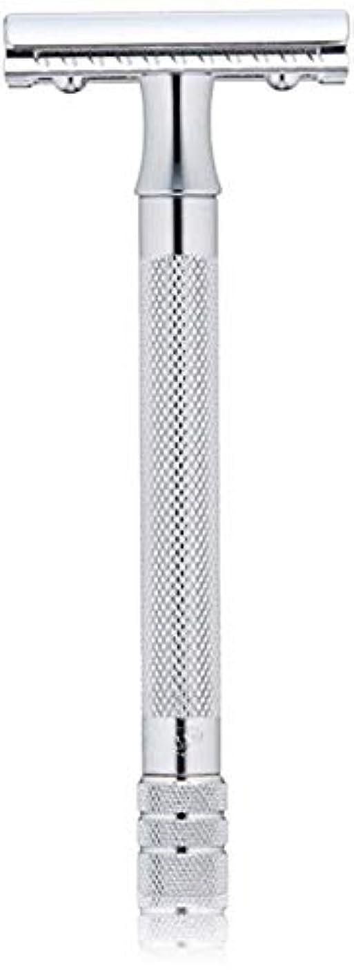 つかの間イタリックスナッチメルクール(MERKUR) MK-23C 両面剃刀、替刃50枚、セーフティ替刃ゴミ箱の3点セット [並行輸入品]
