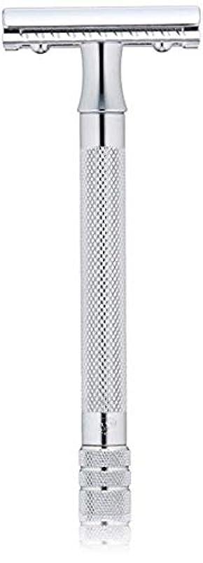 靴下自宅でトランジスタメルクール(MERKUR) MK-23C 両面剃刀、替刃50枚、セーフティ替刃ゴミ箱の3点セット [並行輸入品]