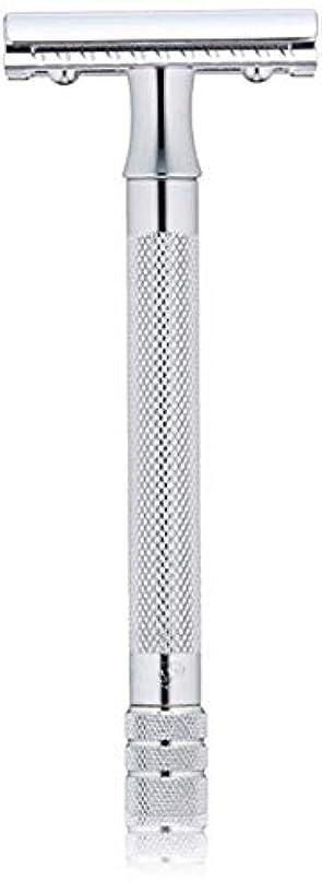 予約練習可塑性メルクール(MERKUR) MK-23C 両面剃刀、替刃50枚、セーフティ替刃ゴミ箱の3点セット [並行輸入品]