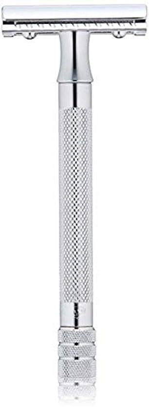 スポークスマン力強い貧困メルクール(MERKUR) MK-23C 両面剃刀、替刃50枚、セーフティ替刃ゴミ箱の3点セット [並行輸入品]