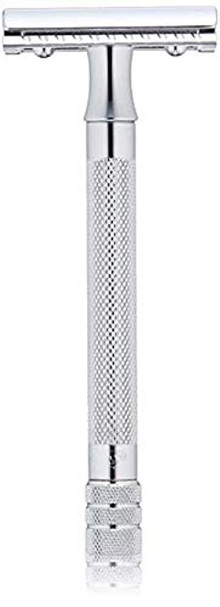 花弁騒乱殺人者メルクール(MERKUR) MK-23C 両面剃刀、替刃50枚、セーフティ替刃ゴミ箱の3点セット [並行輸入品]