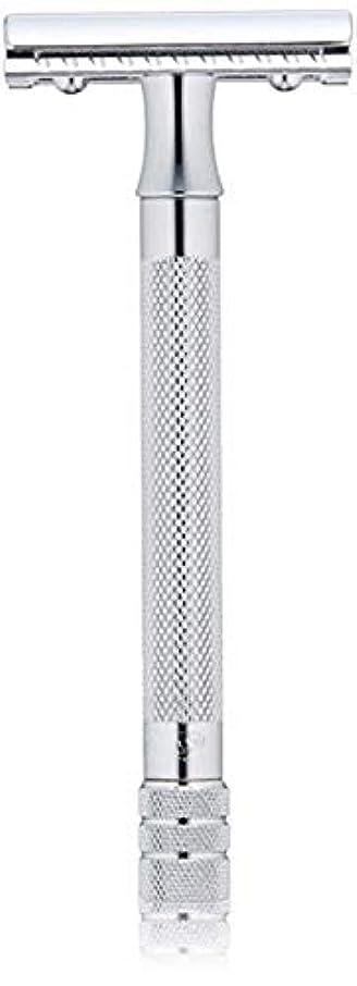 故障中故障中社会学メルクール(MERKUR) MK-23C 両面剃刀、替刃50枚、セーフティ替刃ゴミ箱の3点セット [並行輸入品]