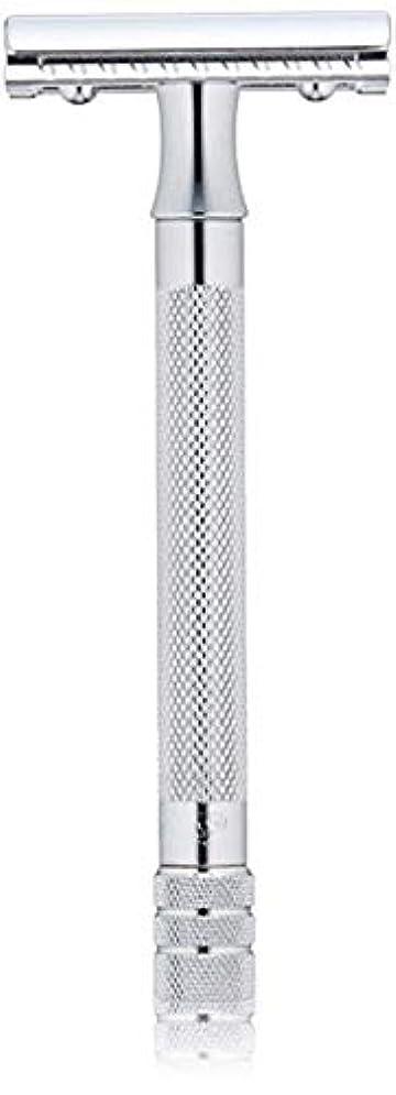 アジャ切るラジカルメルクール(MERKUR) MK-23C 両面剃刀、替刃50枚、セーフティ替刃ゴミ箱の3点セット [並行輸入品]