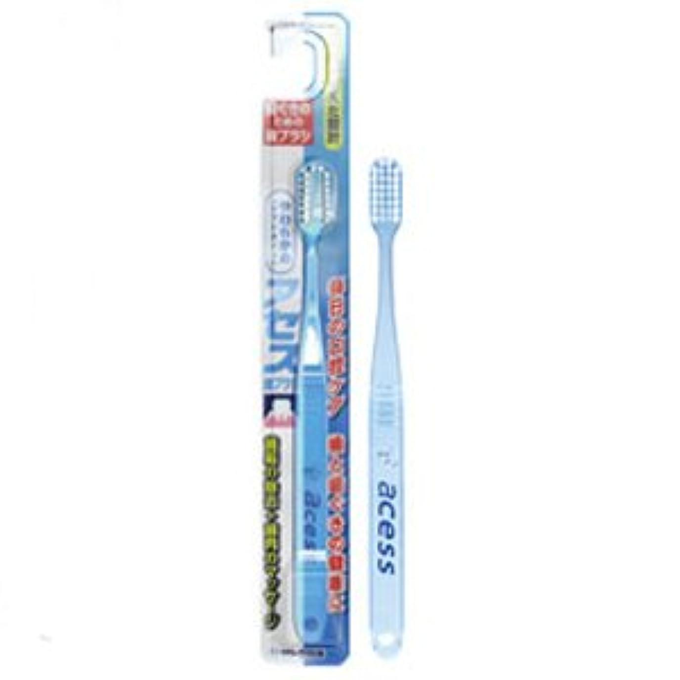 主張韻静的アセス歯ブラシ やわらかめ(ソフトタイプ) ブルー 12本