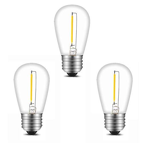 BRTLX LED電球 エジソンランプ E26口金 1W 15W形相当 フィラメント電球 2700k アンティーク電球 シャンデリア電球 電球色 省エネ90% 広配光タイプ レトロ電球 クリスマス 誕生日パーティー ストリングライト装飾球 常夜灯 室内 3個パック