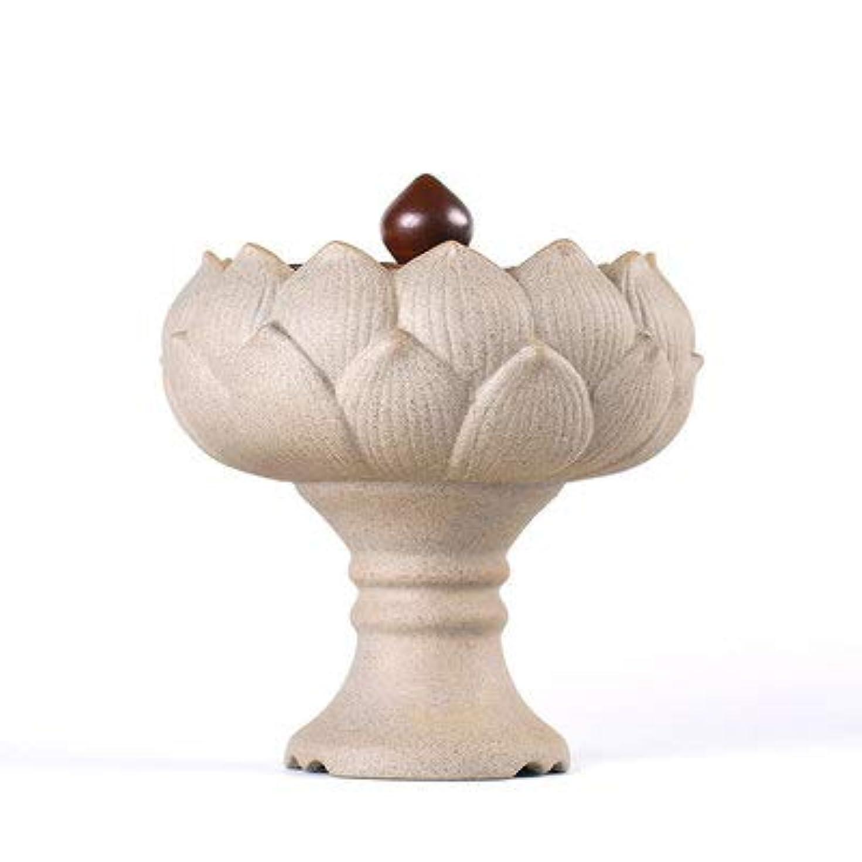 モールス信号上昇魅力PHILOGOD 香炉 陶器ロータススタイリング線香 香立て 香皿