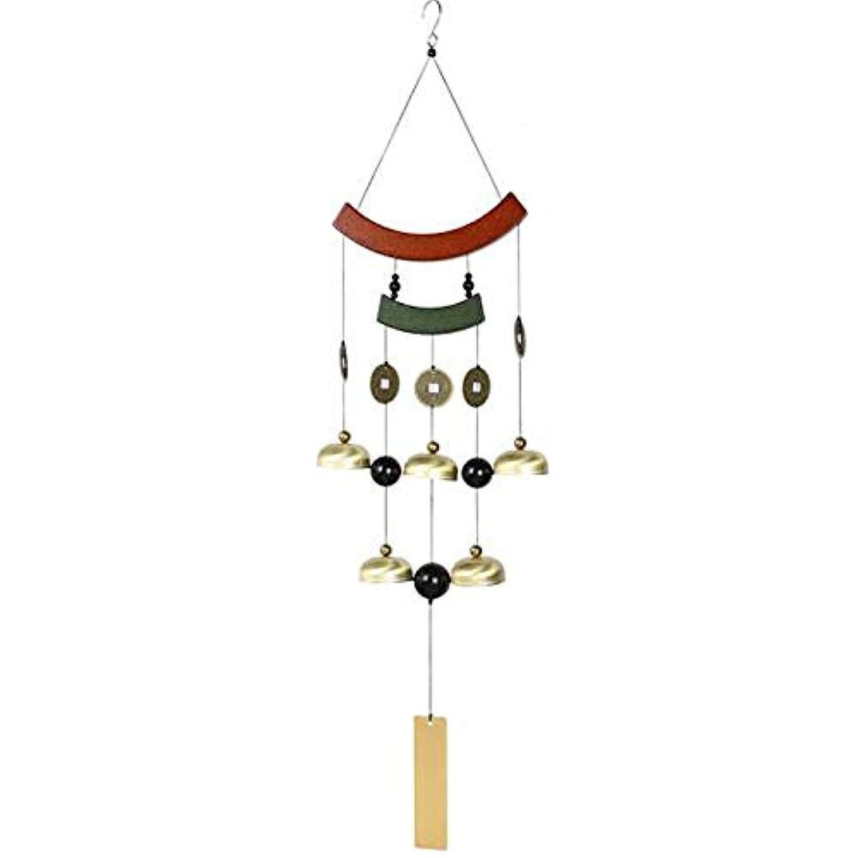 花束航空会社ホイッスルChengjinxiang 風チャイム、ホームレトロなメタル風チャイム、ゴールド、サイズ77CM,クリエイティブギフト (Color : Gold)