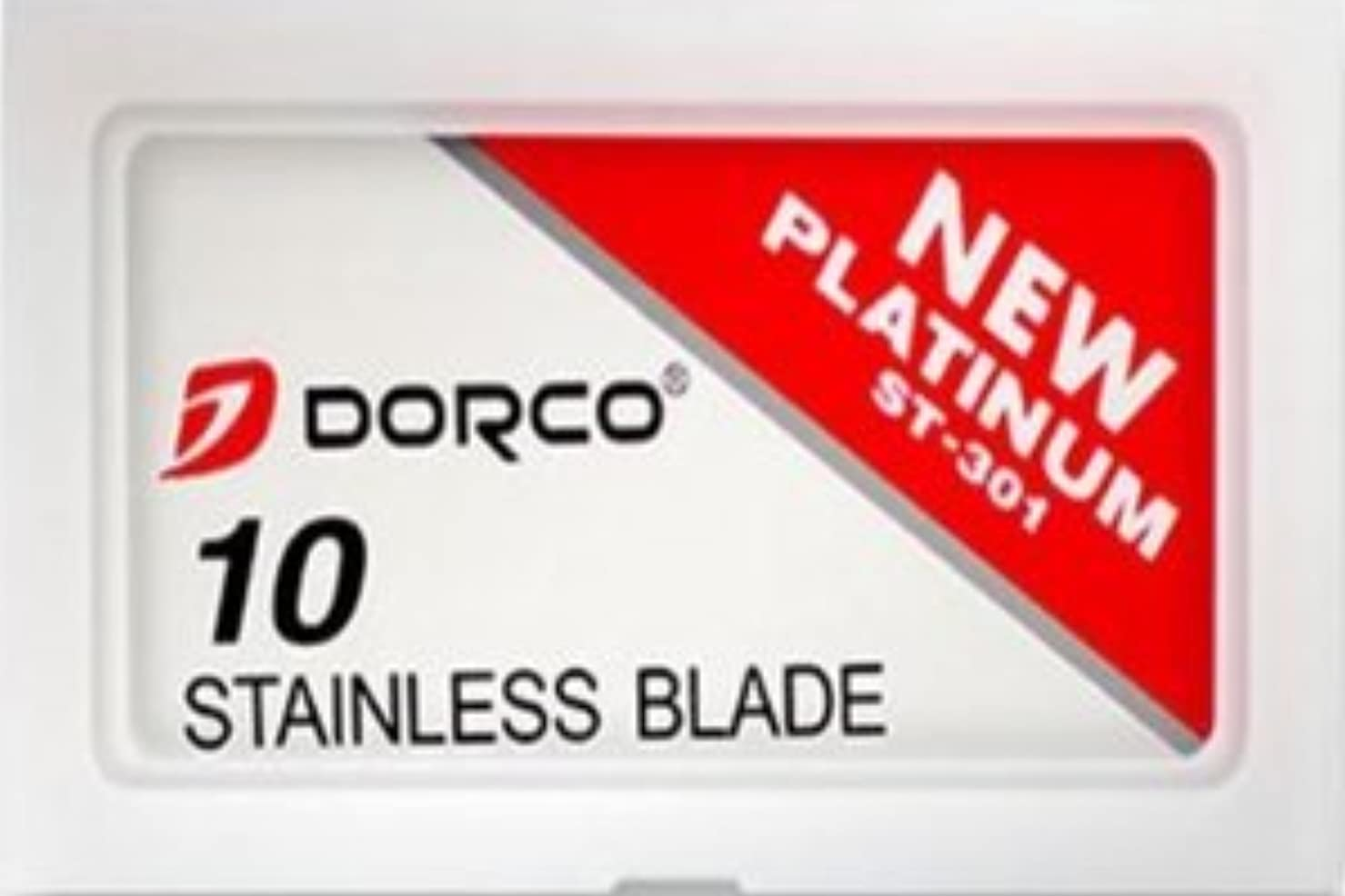 クール土確かなDorco ST-301 Stainless 両刃替刃 100枚入り(10枚入り10 個セット)【並行輸入品】