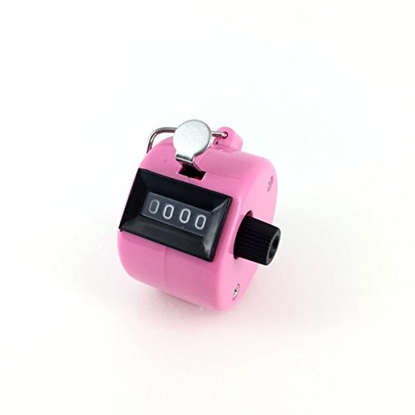 ビジュアル味わう地区エクステカウンター 手持ちホルダー付き 数取器 まつげエクステ用品 カラー4色 (ピンク)