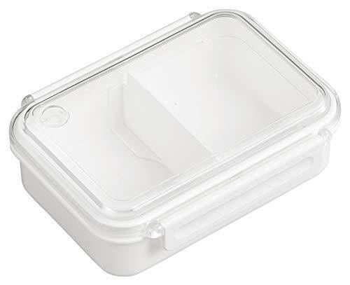 OSK 弁当箱 まるごと 冷凍弁当 ホワイト 500ml タイトボックス (仕切付) (日本製) PCL-1S