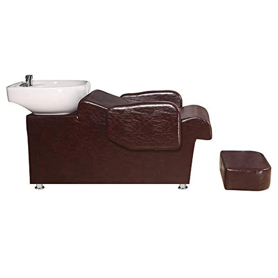 ソフトウェア頭しなやかシャンプーの理髪師の逆洗の椅子、鉱泉の美容院のためのシャンプーボールの流しの椅子半横たわっている鉱泉の美容院装置