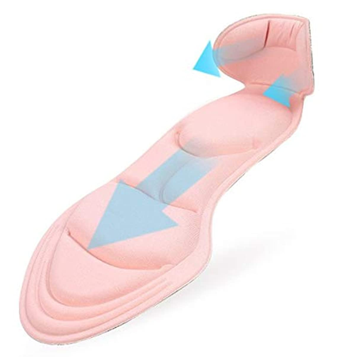 シリコーンゲルパッド快適なマッサージインソール挿入衝撃吸収パッド Shangxiangtrade (Color : ピンク)