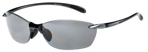 SWANS(スワンズ) サングラス エアレスリーフ 偏光レンズモデル SA-601 GMR ガンメタリック×ライトシルバー/偏光スモーク