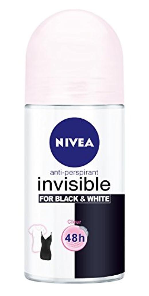 発音デコラティブ一致Nivea Invisible Black And White Clear Anti-perspirant Deodorant Roll On for Women 50ml - ニベアインビジブル黒そして白制汗剤デオドラントロールオン...