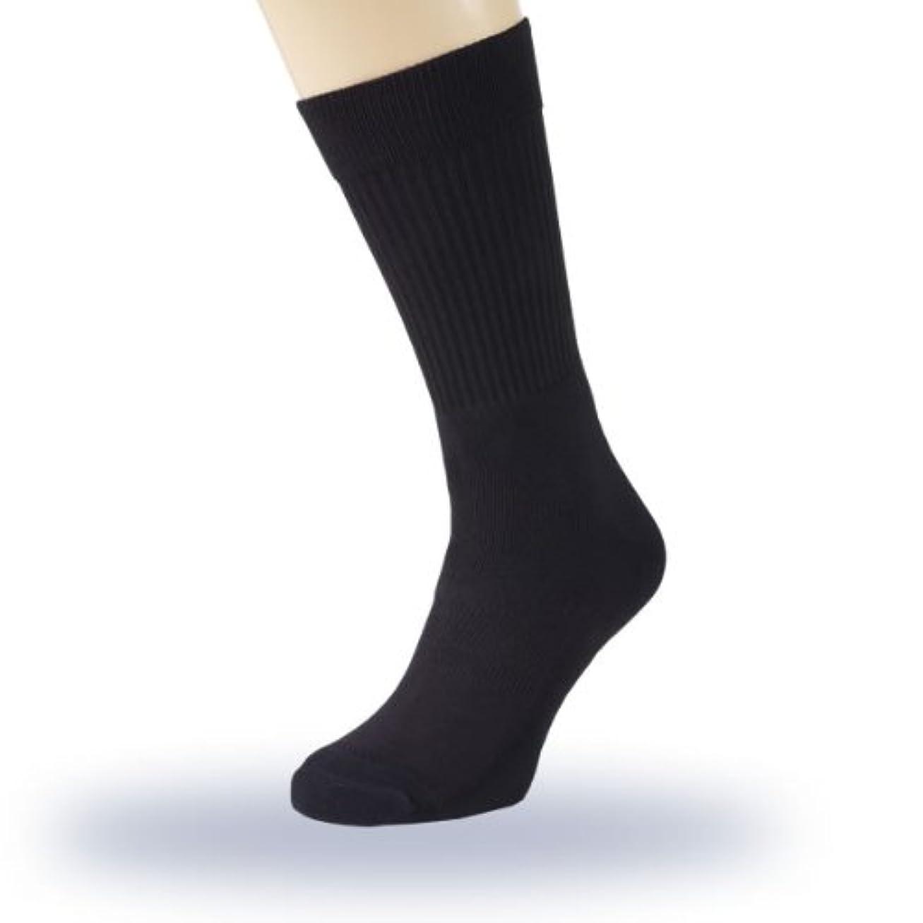 ましいバタフライ罪人フットケアソックス PROTECT iT(プロテクトイット) 男女兼用 ブラック (M 23cm~25.5cm)