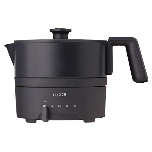 siroca おりょうりケトル ちょいなべ SK-M151 ブラック [丸洗い可/温度調整機能/容量1L]
