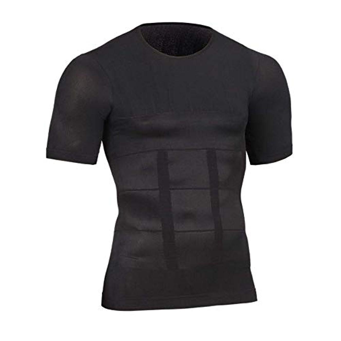 有名人祈る手首NEOBODY メンズ 加圧 シャツ 半袖 インナー Tシャツ ダイエット 補正下着 吸汗速乾 コンプレッションウェア ブラック M