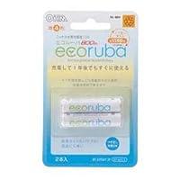 【まとめ 4セット】 オーム電機 ecoruba ニッケル水素充電池 単4形2本パック BT-JUTG412P