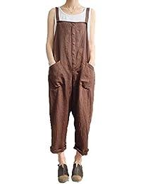 [Nyanny(ニャニー)] レディース サロペット つなぎ オールインワン オーバーオール ズボン カジュアル 大きいサイズ