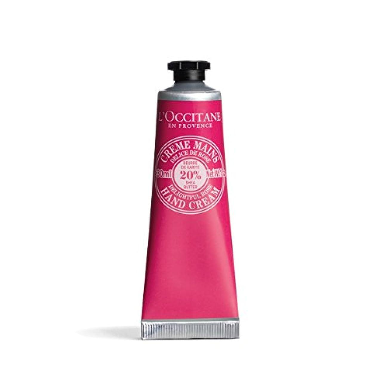 キウイ動機刺繍ロクシタン(L'OCCITANE) シア ハンドクリーム(ディライトフルローズ) 30ml