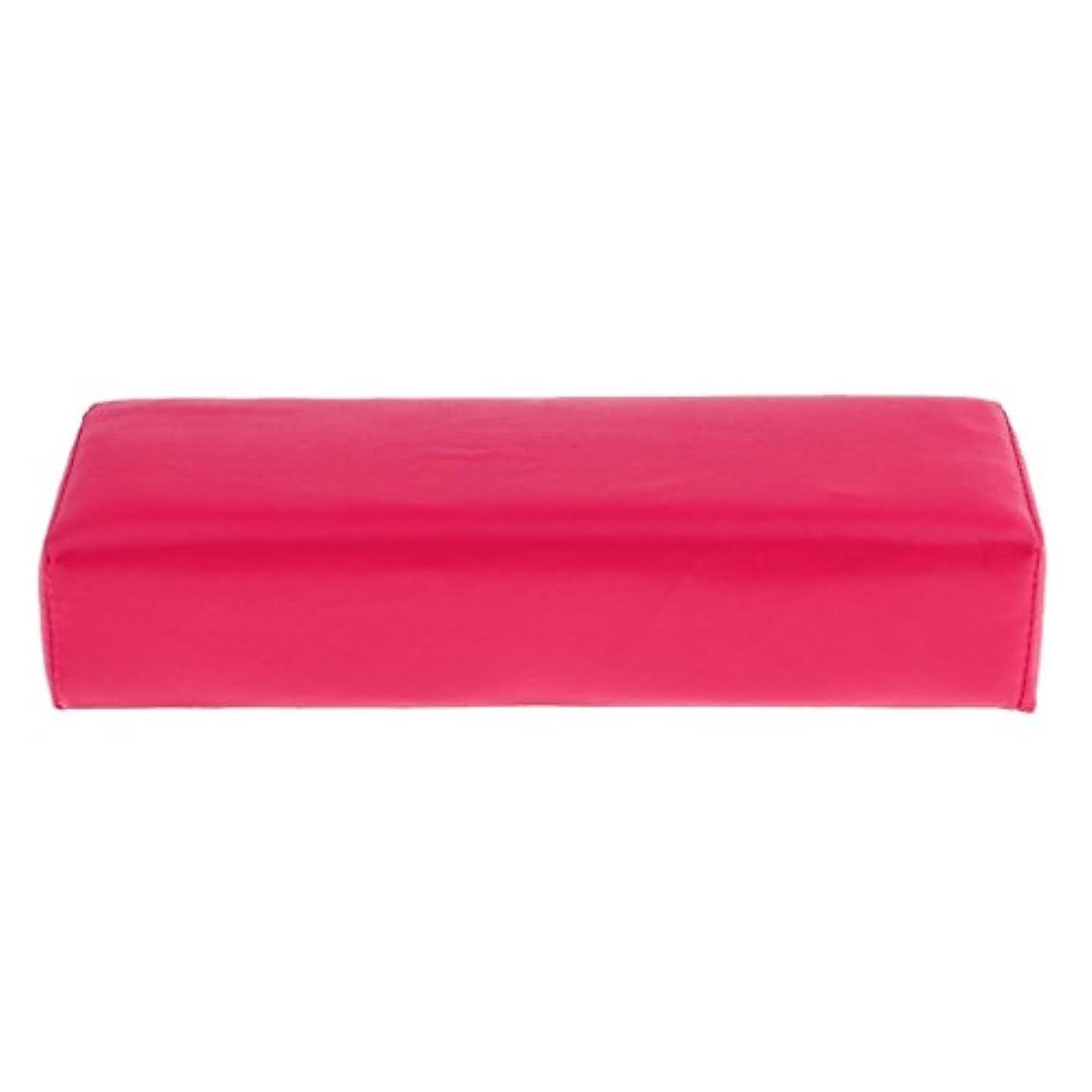 ライナー最も反応する柔らかいスポンジネイルアートハンドレストクッションホルダー - 手/腕/手首の枕マニキュアアクセサリーツール - ローズレッド