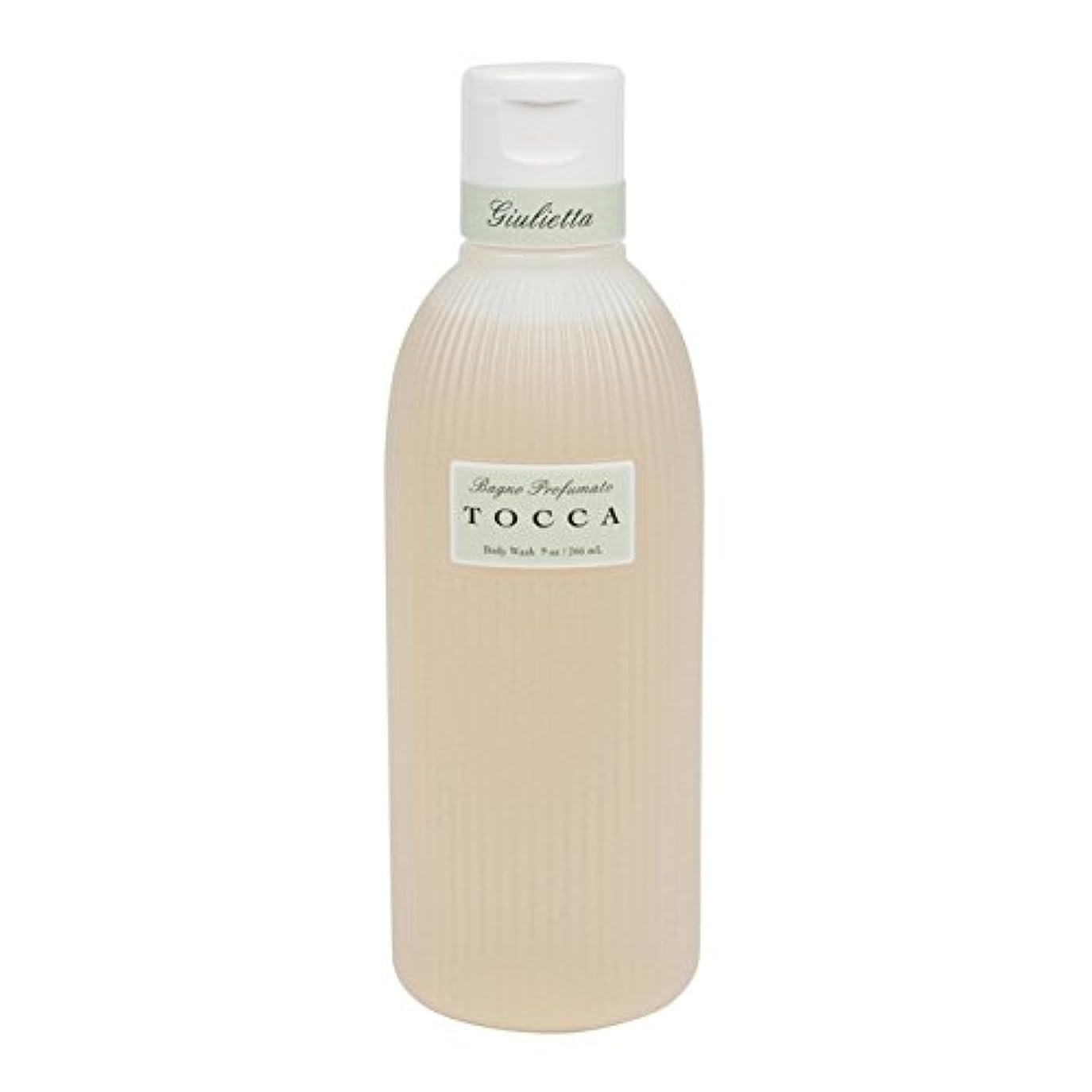 ナプキン中級回転させるトッカ(TOCCA) ボディーケアウォッシュ ジュリエッタの香り  266ml(全身用洗浄料 ボディーソープ ピンクチューリップとグリーンアップルの爽やかで甘い香り)