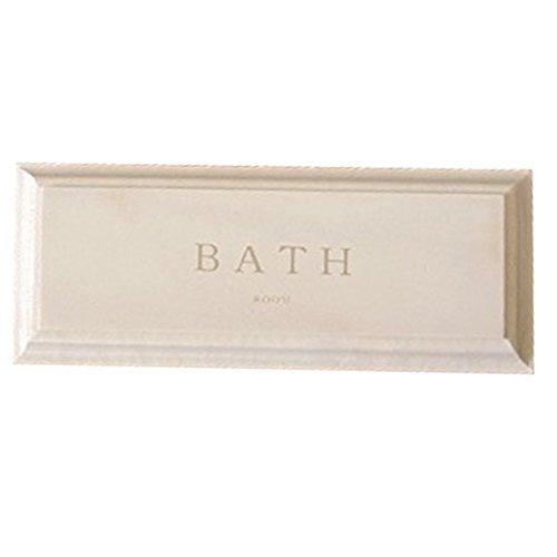 BREA-030BWH 日本製 ドアプレート BATH バスルーム お風呂 サインプレート (ホワイト)