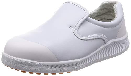[シモン] 作業靴 セーフティースニーカー 耐滑 防菌 防カビ 厨房 コックシューズ 先芯入 SC217T 白 28 cm 3E