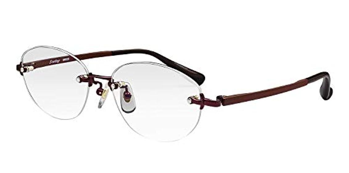 絡み合いメロディアス何鯖江ワークス(SABAE WORKS) 老眼鏡 ブルーカット ふちなし チタン SL8020WI +2.00