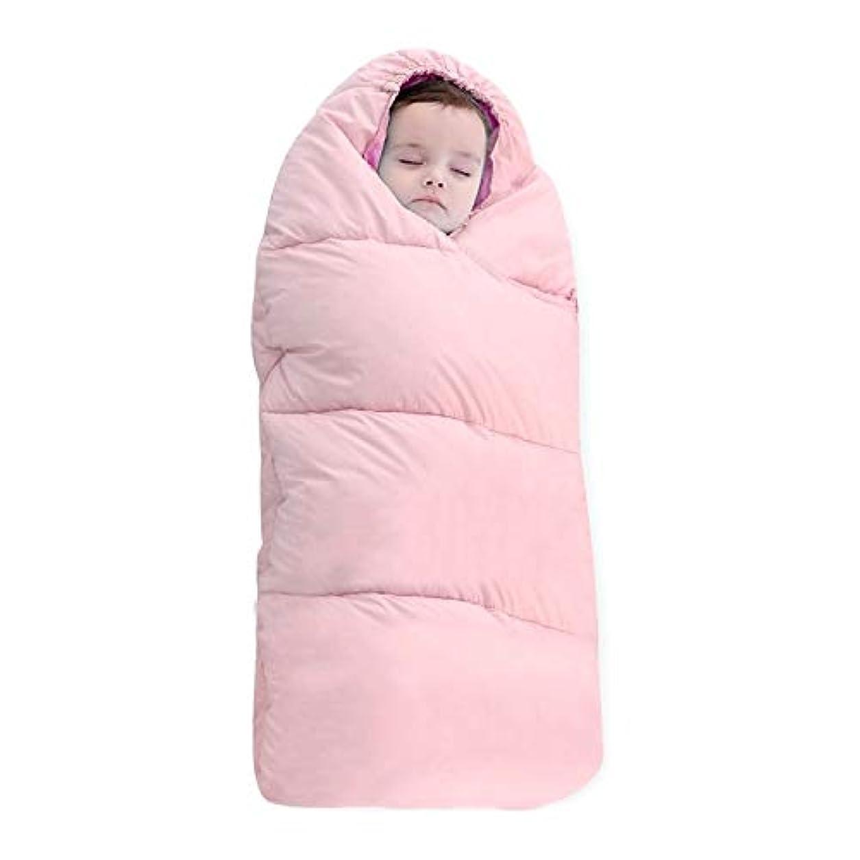 毎週後ご近所赤ちゃん寝袋 80センチメートル、0-1歳(ピンク)のために:バッグ肥厚暖かい新生児キルト、サイズスリーピングHYY赤ちゃん (色 : ピンク)
