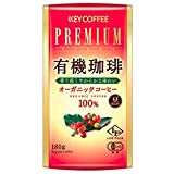 KEY COFFEE(キーコーヒー) LP(ライブパック) プレミアムステージ 有機珈琲(豆) 180g×6個入×(2ケース)