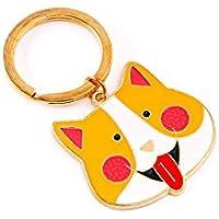 YipingクリエイティブキーリングギフトCartoonペンダントメタルキーリングPurse Handバッグ車チャームキーチェーンギフト( Yellow Cat )