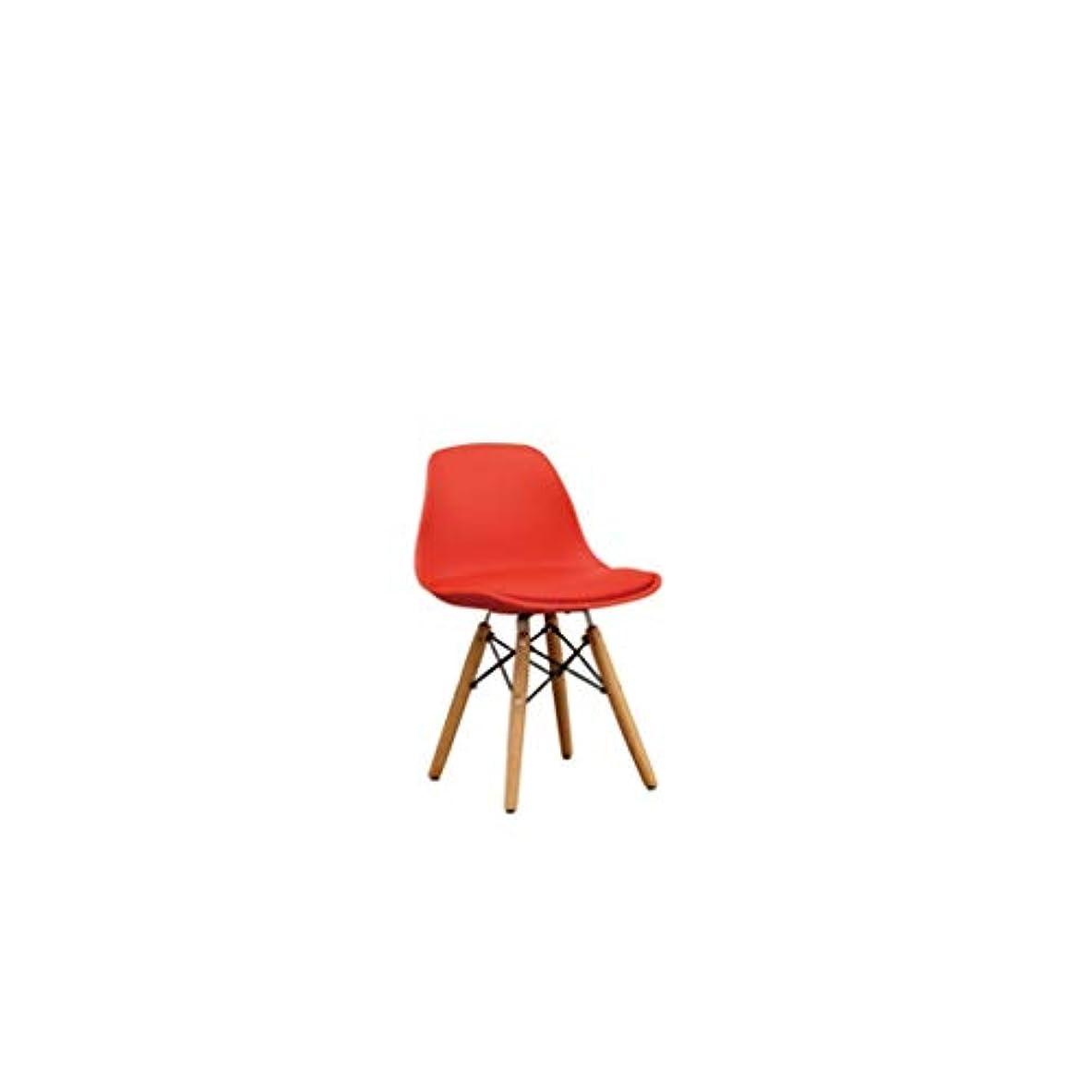 親密なセーター努力ZXFBM 幼稚園の赤ん坊のおもちゃの椅子純木の子供の座席puの座席子供のスツール32cm×33cm×54cm 9色任意 (Color : F)