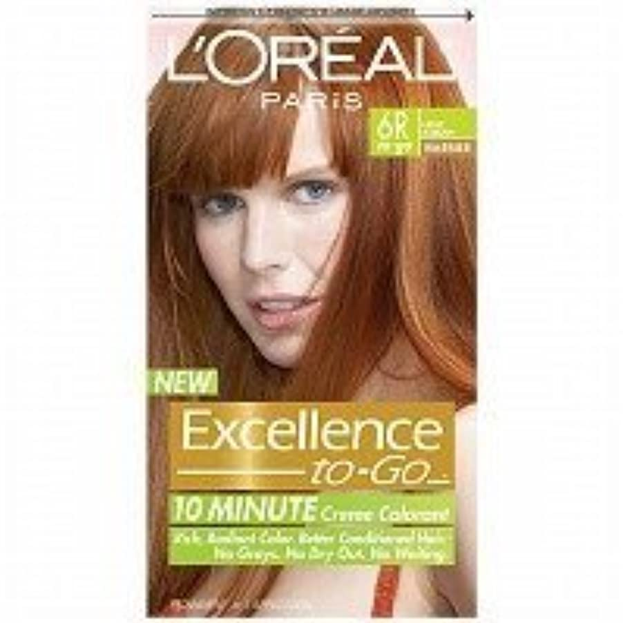 パステル泣き叫ぶ汚すL'Oreal Paris Excellence To-Go 10-Minute Cr?N?Nme Coloring, Light Auburn 6R by L'Oreal Paris Hair Color [並行輸入品]