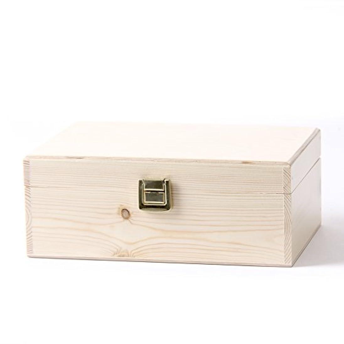 パワー二週間何もないWooden Aromatherapy Gift Box - (Empty But Can Hold 24 x 10ml Glass Bottles)