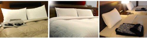 ホテル ペアピロー ホテルの枕(ホテル 枕 x 2種類が1セットに)大手ホテルや高級旅館などで採用されています(日本製)