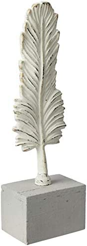 Cast Iron Feather on Stand Table Décor (S)